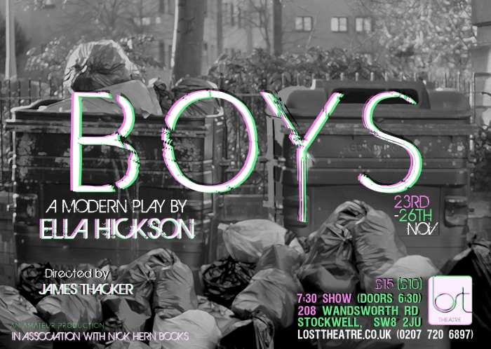 Ella Hickson's Boys opens atLOST