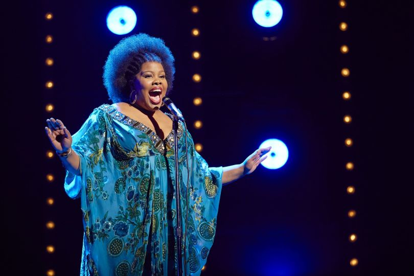 Amber Riley in Dreamgirls at the Savoy Theatre. Credit Brinkhoff-Mögenburg.jpg