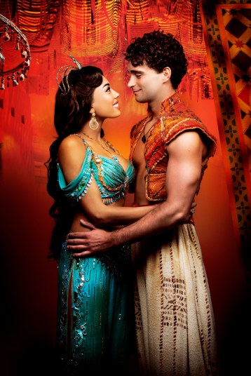 Aladdin - Prince Edward Theatre. Matthew Croke (Aladdin) and Jade Ewen (Jasmine) -® Disney 10299