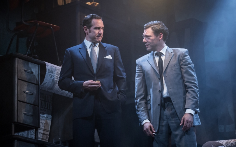 Bertie Carvel (Rupert Murdoch) and Richard Coyle (Larry Lamb)_credit Marc Brenner
