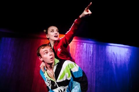 Colin Campbell and Evanna Lynch(c) Alex Brenner, no usage without credit, Disco Pigs @ Trafalgar Studios dir John Haidar (_DSC0188).jpg
