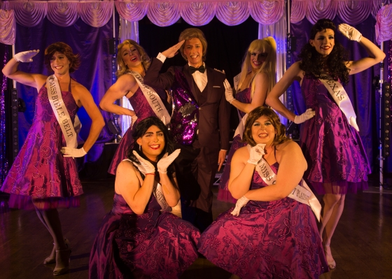 The Pageant host and his contestants.