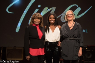 1. l-r Tina Turner, Adrienne Warren, Phyllida Lloyd