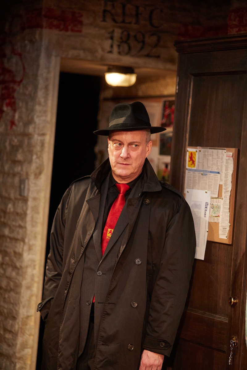 The Red Lion by Patrick Marber. Live Theatre and Trish Wadley Presents at Trafalgar Studios Director Max Roberts Starring Steven Tompkinson John Bowler Dean Bone