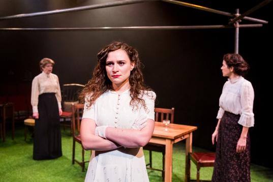 Julia Watson, Emily Tucker and Elizabeth Healey in After the Ball, credit of Mitzi de Margary.