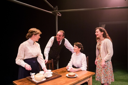 Julia Watson, Jack Bennett, Elizabeth Healey and Emily Tucker in After the Ball, credit of Mitzi de Margary.