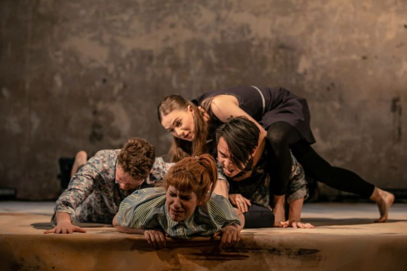Christopher York, Laura Evans, Lowri Izzard and Jeremy Ang Jones in A Midsummer Night's Dream at Wilton's Music Hall, credit of The Other Richard._preview