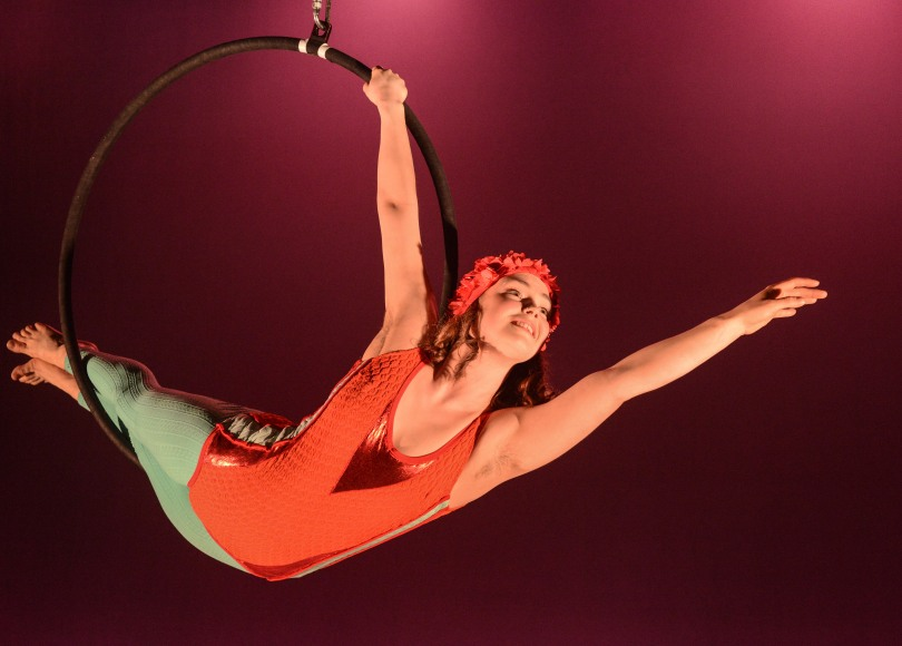 Tilly Lee Kronick on the aerial ring
