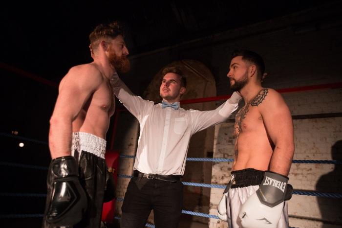 Fight Night. VAULT Festival. Photo Mark Senior 5. (Edward Linard, Ben Lydon and Pete Grimwood)