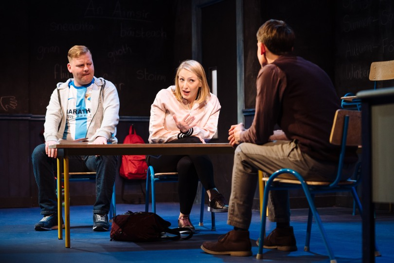l- r Stephen Jones, Sarah Morris and Will O'Connell in 'CLASS' photo by_Helen Murray 13B&W