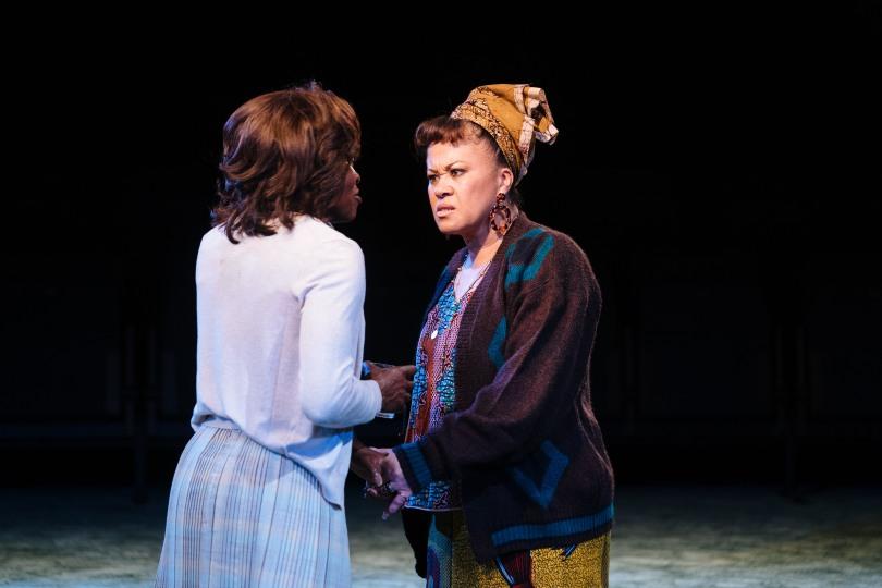 l-r Rakie Ayola as Vivian and Debra Stephens as Vernice in 'Strange Fruit' at the Bush Theatre. Photo credit Helen Murray