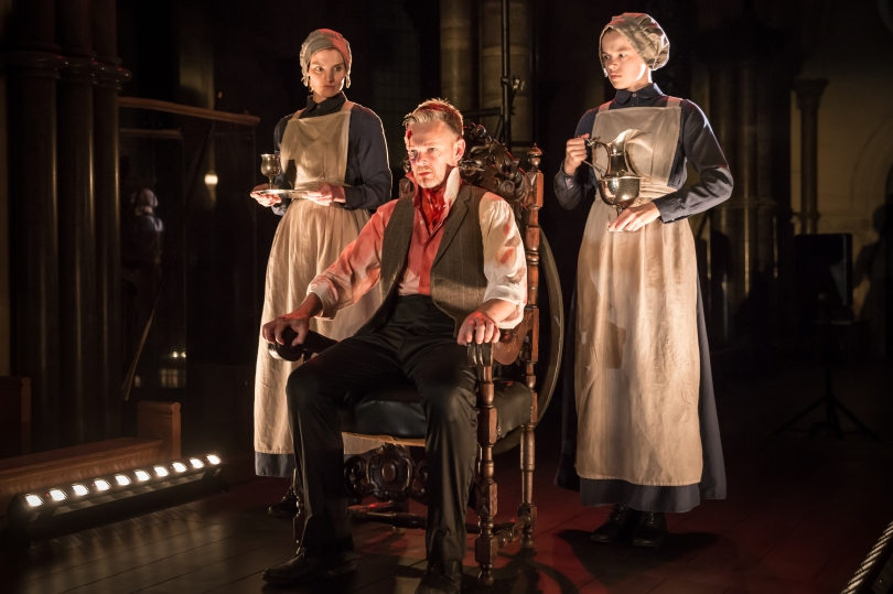 Antic Disposition's Macbeth, Bryony Tebbutt, Peter Collis and Robyn Holdaway (Credit Scott Rylander)