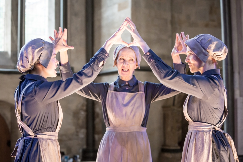 Antic Disposition's Macbeth, Robyn Holdaway, Louise Templeton and Bryony Tebbutt (Credit Scott Rylander)