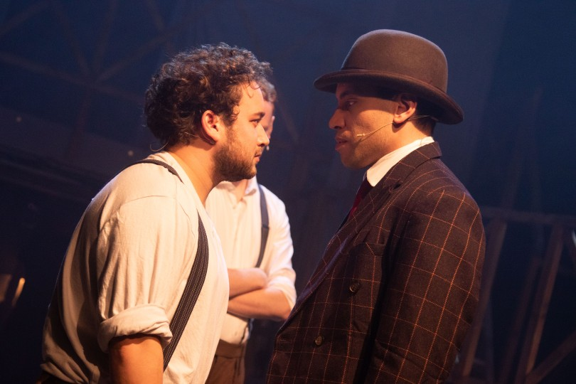 ragtime-dress-rehearsal_racist fire fighter and Coalhouse